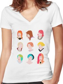 hayley pattern Women's Fitted V-Neck T-Shirt