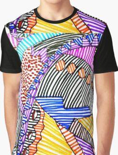 MULTICOLORED LINEAR SCAPE Graphic T-Shirt