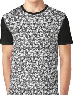 Minimal Color Geometric Pattern Graphic T-Shirt