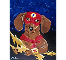 Dachshund Super Hero - The Dash Photographic Print