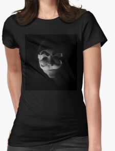 Mr Robot - mask glitch Womens Fitted T-Shirt