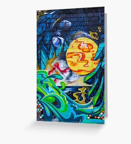 Street Art - Graffiti - Fremantle Western Australia 2015 Greeting Card