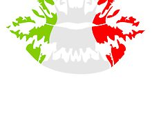 Italy flag football fan kiss by Style-O-Mat