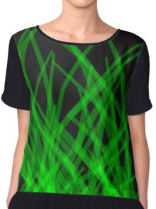 Green Lines Chiffon Top