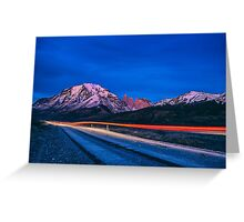 Dawn at Torres del Paine - Patagonia, Chile Greeting Card