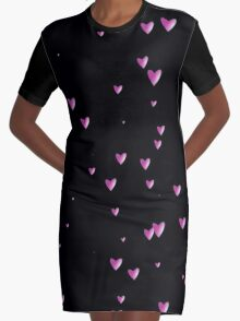 pink hearts Graphic T-Shirt Dress