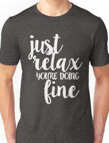 Phish Strange Design Just Relax White Unisex T-Shirt