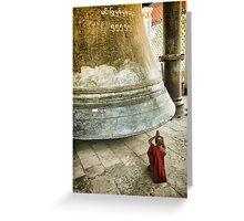 Boy and Bell - Mandalay, Myanmar Greeting Card