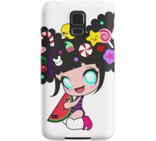 Sweet kawaii girl with watermelon Samsung Galaxy Case/Skin