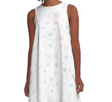 Soft Pastel Dots A-Line Dress