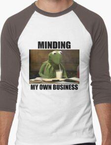 Minding My Own Business Men's Baseball ¾ T-Shirt