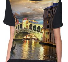 ROMANTIC VENICE, by E. Giupponi Chiffon Top
