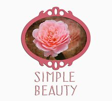 Simple Beauty in Pink Womens Fitted T-Shirt