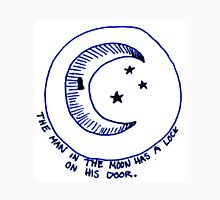 The man in the moon has a lock on his door. Unisex T-Shirt