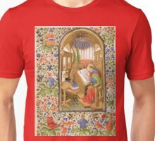 Medieval Scribe with Winged Lion Unisex T-Shirt