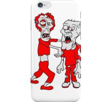 opas lustig 2 freunde team party crew zombies zombie untot horror monster halloween  iPhone Case/Skin