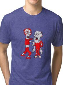 opas lustig 2 freunde team party crew zombies zombie untot horror monster halloween  Tri-blend T-Shirt