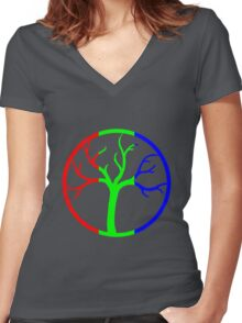 RGB Women's Fitted V-Neck T-Shirt