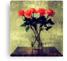 Jug of Roses Canvas Print