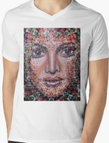 Fixed On Faces Mens V-Neck T-Shirt