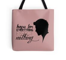 Darren Criss silhouette - quotes [pink] Tote Bag