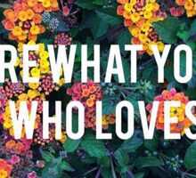 You Are What You Love, Not Who Loves You Sticker