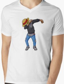 Luffy Dab, One Piece Mens V-Neck T-Shirt