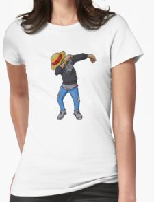 Luffy Dab, One Piece Womens Fitted T-Shirt