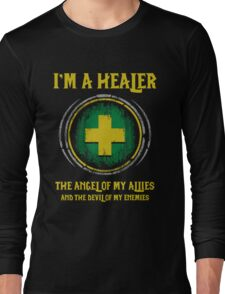 Warcraft - I'm A Healer The Angel Of My Allies And The Devil Of My Enmenies Long Sleeve T-Shirt