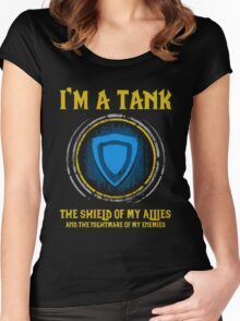 Warcraft - I'm A Tank The Shield Of My Allies And The Nightmare Of My Enemies Women's Fitted Scoop T-Shirt