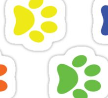 LGBT Dog Paw Prints Sticker