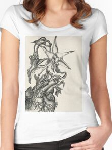 Orchid Heart - Evolve Love Women's Fitted Scoop T-Shirt