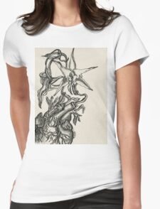 Orchid Heart - Evolve Love Womens Fitted T-Shirt