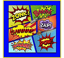 Colorful Comic Book Panels Photographic Print
