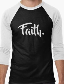 Faith. Tshirt (White) Men's Baseball ¾ T-Shirt
