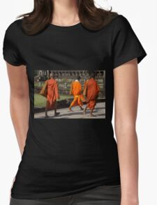 Walking to the Temple Womens Fitted T-Shirt
