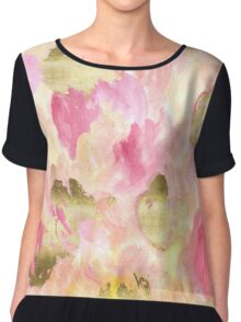 Gold Tulips Chiffon Top