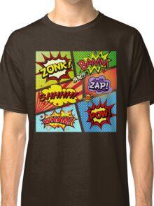Colorful Comic Book Panels Classic T-Shirt