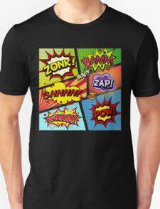Colorful Comic Book Panels Unisex T-Shirt
