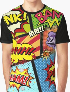 Colorful Comic Book Panels Graphic T-Shirt