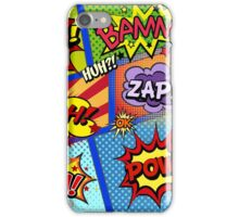 Colorful Comic Book Panels iPhone Case/Skin