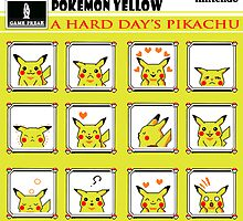 Pokemon Yellow: A Hard Day's Pikachu Full Color by CPSUAB
