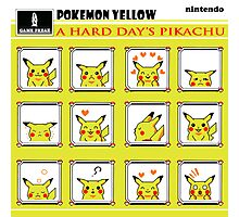 Pokemon Yellow: A Hard Day's Pikachu Full Color Photographic Print