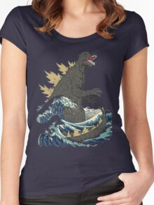 The Great Monster off kanagawa Women's Fitted Scoop T-Shirt