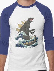 The Great Monster off kanagawa Men's Baseball ¾ T-Shirt