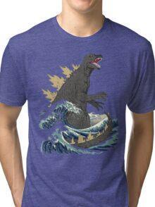 The Great Monster off kanagawa Tri-blend T-Shirt