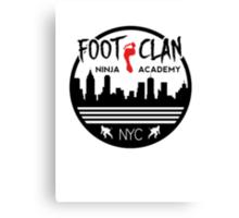 Foot Clan Ninja Academy T-Shirt NYC New York Teenage Mutant Ninja Turtles TMNT  Canvas Print