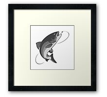 fly fishing salmon Framed Print