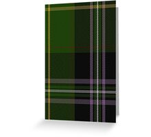 01207 Gententorte Black Fashion Tartan Greeting Card