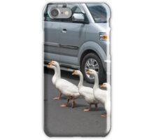 Pedestrians Crossing iPhone Case/Skin